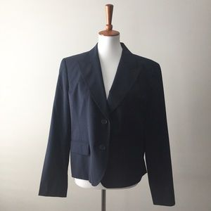 NWT Michael Michael Kors Stretch Navy Wool Blazer